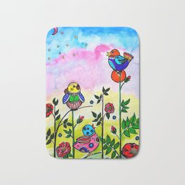 EARLY MORNING BIRDS Bath Mat