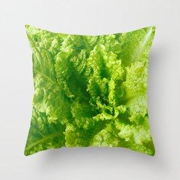 Lettuce closeup Throw Pillow