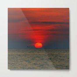 SUNSET AT SILVER BEACH Metal Print