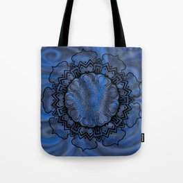 Water Swirl Mandala Tote Bag