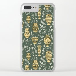 Greek vases with flowers Clear iPhone Case
