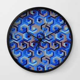 Back in the 60s deep blue Wall Clock