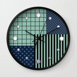 Patchwork retro 2 Wall Clock