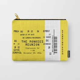 Concert Ticket Stub - The Monkees Reunion Carry-All Pouch