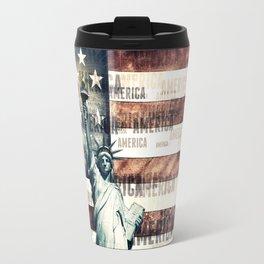 Vintage Patriotic American Liberty Travel Mug
