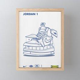 Jodan 1 Poster Framed Mini Art Print