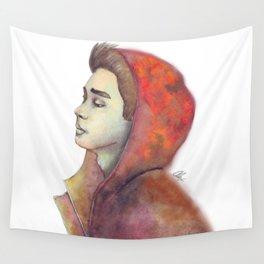 Solemn Boy Wall Tapestry
