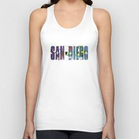 san diego Tank Tops featuring San Diego by Tonya Doughty