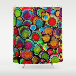 Conscious Overlap (Alcohol Inks Series 03) Shower Curtain