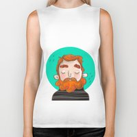 ginger Biker Tanks featuring Ginger by caridibuja