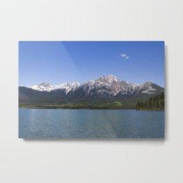 Pyramid Mountain at Pyramid Lake Metal Print