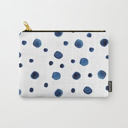 Blue Indigo Series - Round Pattern Carry-All Pouch