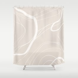 BASIC   TOPOGRAPHY NEUTRAL Shower Curtain