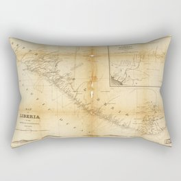Map of Liberia (1870) Rectangular Pillow