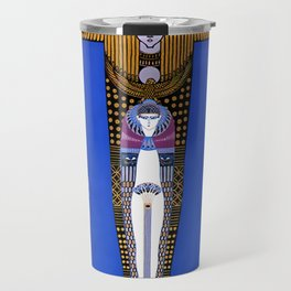 "Art Deco Orientalism ""Cleopatra"" Design Travel Mug"