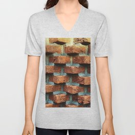 Bricks Unisex V-Neck