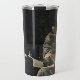 "Johannes Vermeer ""Girl Interrupted at Her Music"" Travel Mug"