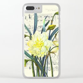 Daffodil Spring Song Clear iPhone Case