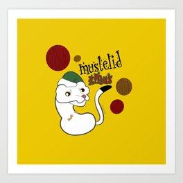 Mustelid Xmas #1 Art Print