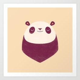 Minimal Panda Art Print