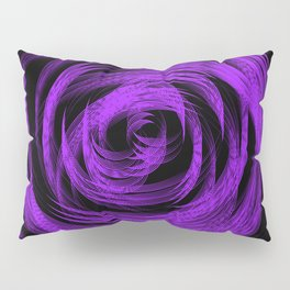 Purple Loop Illusion Pillow Sham