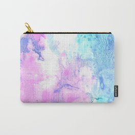 Cotton Candy watercolor abstract Carry-All Pouch