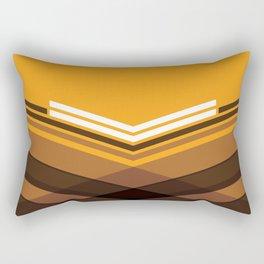 Brown Stripes Rectangular Pillow