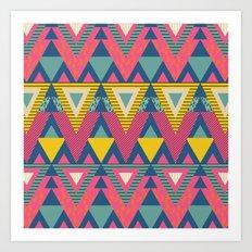 Geometric Chic again and again Art Print