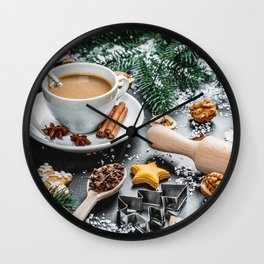 Desktop Wallpapers New year Star anise Illicium Ho Wall Clock