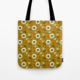 Folk flowers and honey Tote Bag