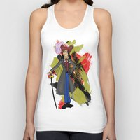 captain hook Tank Tops featuring Disneyland Captain Hook - Evil Relations by Joey Noble