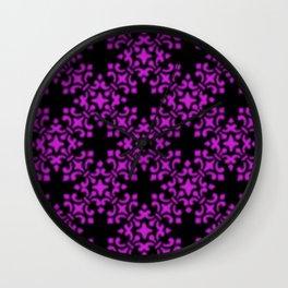 Dazzling Violet Vintage Brocade Damask Wall Clock