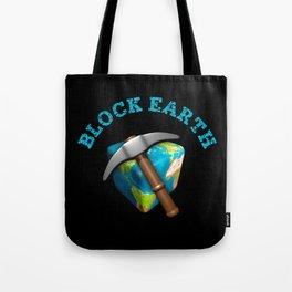 Block Earth - (Black background) Tote Bag