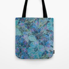 Blue-blue and Some Pink Blob Tote Bag