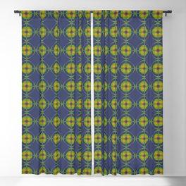 ANTIUM orange green grey and navy pattern Blackout Curtain