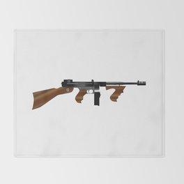 Tommy Gun Throw Blanket