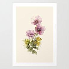 Geranium & Gardenmint Art Print