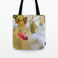 Berry Bokeh Fine Art Photographic Winter Print  Tote Bag
