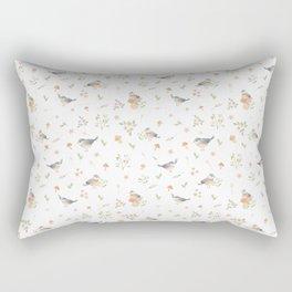 Birds and Mushrooms Rectangular Pillow