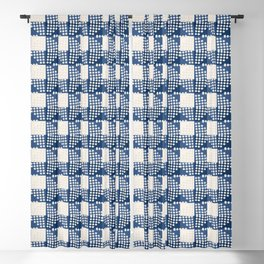 SEVILLE GINGHAM BLUE Blackout Curtain