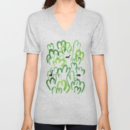 Animals in the forest Unisex V-Neck