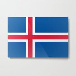 Iceland Flag Icelandic Patriotic Metal Print