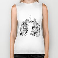 lungs Biker Tanks featuring LUNGS by AA / Anaïs Dedit