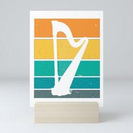 for Harp Player Harpists Vintage Funny Mini Art Print