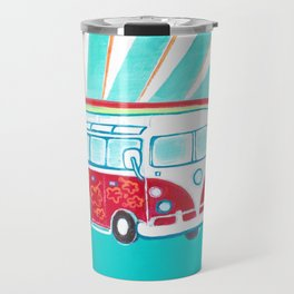 Surfer Sunrise Travel Mug