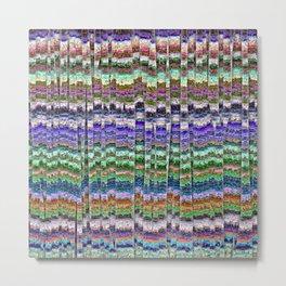 Textured Mosaic Layers Metal Print