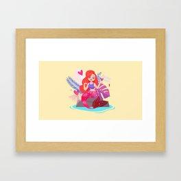 Mermaid Jessica Rabbit Framed Art Print