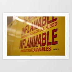 Flammable  Art Print