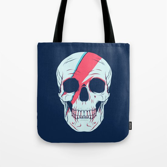 Bowie Skull Tote Bag