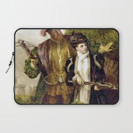 Tudor Romance - Henry VIII and Anne Boleyn hunting Laptop Sleeve